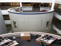 Rehau supplied curved trunking for rotunda meeting point at new Bolton College