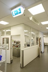 For the safety of commercial buildings and their occupants, all relevant emergency lighting regulations, and the standards that support them, should be complied with (photo by Emergi-Lite).