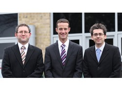 DEVI's management team – Alex Finch (finance director), Chris Alecock (technical director) and Steven Rooney (sales director)