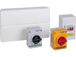 Hager has launched a control and circuit protection solution for domestic and commercial photovoltaic applications