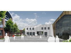 An artist's impression of the new extension at Ellis Guilford School, Nottingham where an Apex modular wiring system will be installed