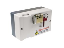 New lockable fused main switches ensure safety on site