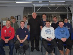 Tony Cable with apprentices