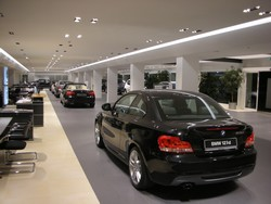 BMW's flagship showroom in Rome