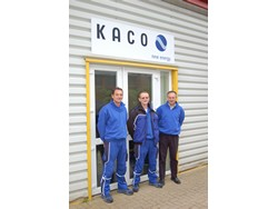 The new KACO team in Milton Keynes: Martin Spaul, John Fuller and David Hawkins